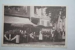 60 : Hôtel De La Gerbe D'Or - F. Moreau  Propriétaire - Noailles ( Animation - Au Dos  Note  ) - Noailles
