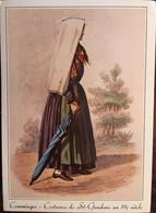 """Cpm De 1983 Gravure Ancienne Comminges """"Costumes"""" Femme De Saint Gaudens Au 19e Siècle 31 Haute Garonne éd Loubatières - Saint Gaudens"""