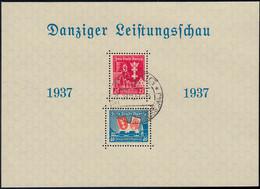 Danzig Block 3 Leistungsschau 1937 Mit Dem Passenden Ausstellungs- Sonderstempel - Danzig