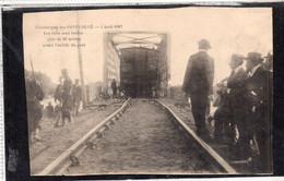 LES PONTS DE CE (49) Catastrophe 4 Aout 1907 Les Rails Sont Tordus Plus De 50 Mètres - Les Ponts De Ce