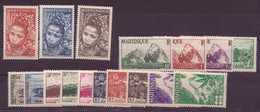 ⭐Martinique N° 226 à 242**⭐ - Unused Stamps