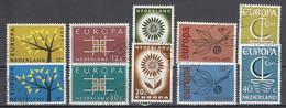Nederland Europa Cept 1962 T.m. 1966 Gestempeld - Gebraucht