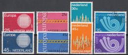 Nederland Europa Cept 1970 T.m. 1973. Gestempeld - Gebraucht