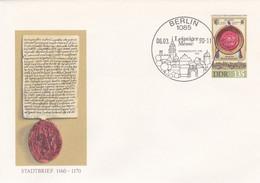 Allemagne RDA 1990 EP 135 P Foire De Printemps De Leipzig 825e Anniversaire De La Foire Sceaux De Privilège - Umschläge - Gebraucht