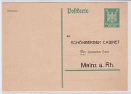 95457 DR Ganzsachen Postkarte P162 Zudruck Schönberger Cabinet Mainz Am Rhein - Postwaardestukken