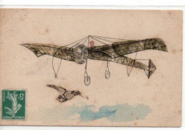 Carte Representant Un Avion Composé De Timbres - Otros
