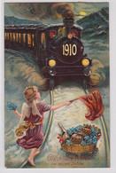 87686 Glückwunsch AK Glückliche Fahrt Im Neuen Jahre 1910 - Año Nuevo