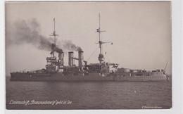 86928 Foto Ak Linienschiff 'Braunschweig' Geht In See Um 1925 - Sin Clasificación