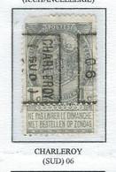 Préo Roulette 1906   -   COB 53 -  (1c. Gris CHARLEROY (SUD)  06) - Roller Precancels 1900-09