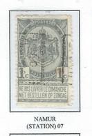 Préo Roulette 1907   -   COB 53 -  (1c. Gris NAMUR (STATION)  07) - Roller Precancels 1900-09