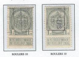 Préo Roulette 1910   -   COB 81 -  (1c. Gris ROULERS  10) - Roller Precancels 1910-19
