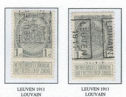 Préo Roulette 1911   -   COB 81A -  (1c. Gris LEUVEN  1911  LOUVAIN) - Roller Precancels 1910-19