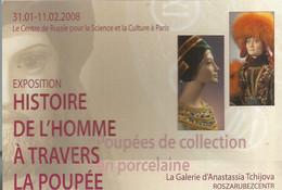 F45 Cpa / CARTE CPM Publicitaire PUB Advertising Card Cart' Com Poupée PORCELAINE Exposition RUSSIE - Poupées