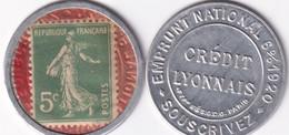 "SEMEUSE - 1920 - TIMBRE MONNAIE Du CREDIT LYONNAIS ""EMPRUNT NATIONAL"" - Monetary / Of Necessity"
