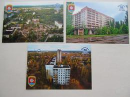 3 PCs Ukraine Chernobyl Pripyat View Of The City - Oekraïne