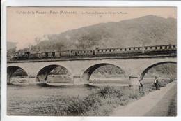 Cpa Revin Le Pont Du Chemin De Fer Sur La Meuse - Train - Revin
