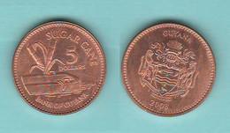 Guyana 5 Dollars $ 2008 Sugar Cane Zucchero - Guyana
