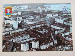 Ukraine Chernobyl Pripyat Aerial View Of The City Lenin Square And Avanhard Stadium - Stadions