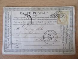 France - Timbre Cérès 15c Sur Précurseur Vers Elbeuf - Oblitéré GC 2188 Le Mans 1876 - Ambulant Au Verso - 1849-1876: Klassik