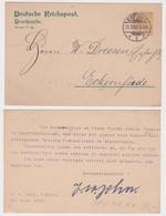 42455 Privat Ganzsachen Postkarte PP8/A2 J.A. John Erfurt Nach Eckernförde 1900 - Postwaardestukken