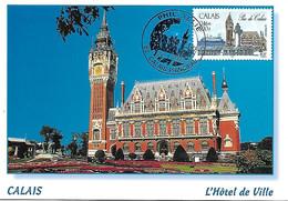 3401 - CALAIS HOTEL DE VILLE, Oblitération Philatélie (concordance) CALAIS PRINCIPAL Au 23-01-2002 - MF - 2000-09