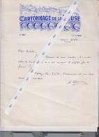 NAMUR  Entête Cartonnage De La Meuse   1961 - Printing & Stationeries