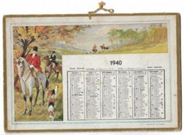 Calendrier  1940 Format 215 Mm X 145 Mm Tres Bonne Etat Clas02 N093 - Other