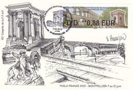 Carte Postale Montpellier 2019 Congrès FFAP Avec ATM LISA Signature Sopjie Beaujard 7/6/2019 - Sin Clasificación