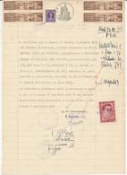 1947 PRO VITTIME POLITICHE AMENDOLA 2 LIRE OBLITERATO SU DOCUMENTO URBINO - Non Classificati