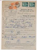 1947 PRO VITTIME POLITICHE MARTINI 2 LIRE COPPIA NUOVA SU DOCUMENTO - Non Classificati