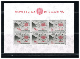 SAN MARINO - FOGLIETTO  1962 - EUROPA UNITA - Blocs-feuillets