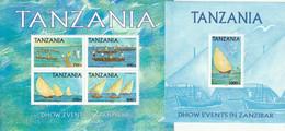 TANZANIE - BLOCS N°501+A ** (2004) Courses De Bateaux - Tanzania (1964-...)