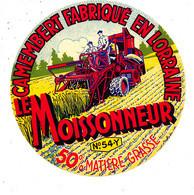 Z  52 A /   ETIQUETTE DE FROMAGE  -CAMEMBERT  LE MOISSONNEUR  FAB.EN LORRAINE 54 Y. - Cheese