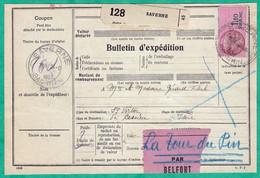 COLIS POSTAUX ALSACE LORRAINE - BULLETIN D'EXPEDITION DU 24 AOUT 1939 - 2 SCANS - Covers & Documents