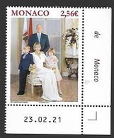 Monaco 2021 - Photo Officielle De La Famille Princière ** - Unused Stamps