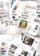 Lot De 100 Enveloppes 1er Premier Jour D'émission FDC First Day Cover Commémoratives - Other