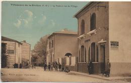 66 VILLENEUVE-de-la-RIVIERE  La Poste Et Rue Du Village - Other Municipalities