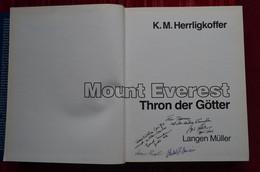 Signed Hans Engl Sigi Hupfauer Hubert Maier Bernd Kullmann Everest Himalaya Mountaineering Escalade Alpinisme - Biographies & Mémoirs