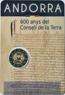 """2 € Commemorativi Andorra - 2019 - """"600° Anniv. Consell De La Terra"""" - Andorra"""