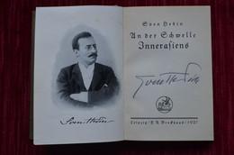 Signed Sven Hedin Reisen Und Abenteuer Himalaya Mountaineering Escalade Alpinisme - Biographies & Mémoirs