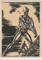 CONTRE LA LUMIÈRE 7 : Illustrateur Hedwig Zum Tobel  Die Lahreszeiten ( Agriculteur , Faucheur ) - Hold To Light