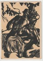 CONTRE LA LUMIÈRE 12 : Illustrateur Hedwig Zum Tobel  Die Lahreszeiten ( Les Saisons L'hiver  ) - Hold To Light