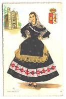 Fantaisie , Carte Brodée + Tissu , Elsi , Danseuse Espagnole , VALLADOLID , * 298 56 - Valladolid