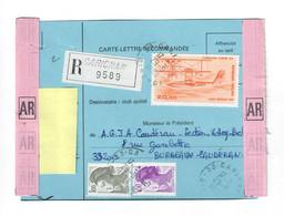 Ref EPF/1--- 33 Garignan 29/09/1989  PA58  Hydravion CAMS 53-Carte Lettre Recommandée-Sport Transfert Volley Ball - 1960-.... Brieven & Documenten