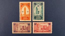 Maroc - Série 4 Valeurs YT N° 124 à 127 * Neuf Avec Charnière - Nuovi