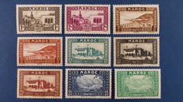 Maroc - Série Complète 24 Valeurs YT N° 128 à 149 * Neuf Avec Charnière - Nuovi