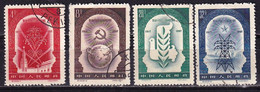 China 1957 40th Ann. Of Russian Revolution 4v CTO - Usados