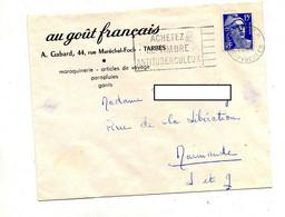 Lettre Flamme Tarbes Timbre Antituberculeux Sur Gandon Entete Au Gout Français Gant  Parapluie - Annullamenti Meccanici (pubblicitari)