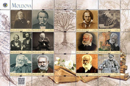 Moldova 2020, World Literature, Writer Victor Hugo, Sheetlet Of 12v - Moldavia
