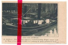 Orig. Knipsel Coupure Tijdschrift Magazine - Sleepboot Atlas Met 120 Vluchtelingen De Grens Over - 1917 - Sin Clasificación